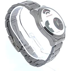 Speedster White Faced Gun Metal Grey Metal Strap Men's Watch