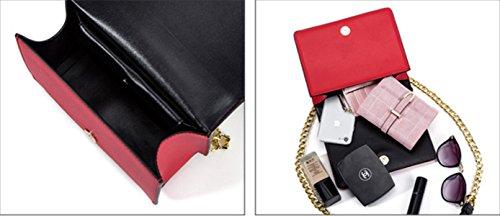 Bag Donna Vera Pelle Metallo Serpentine Piazza Fibbia Singola Spalla Crossbody Bag White