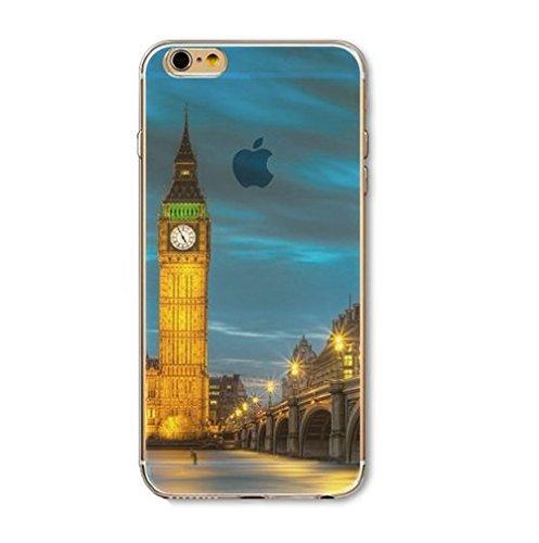 Coque Iphone 5 , 5Se et 5S en silicone souple , Eclair , orage Big Ben
