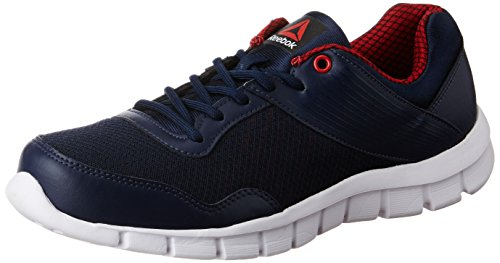 Reebok Men's Ride Lite Run Col Navy, Red Rush, Wht and Blk Running Shoes - 7 UK/India (40.5 EU)(8 US)