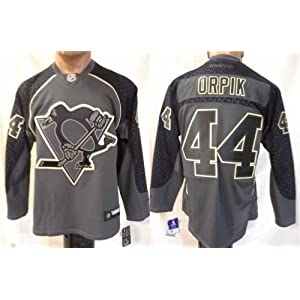 NHL Eishockey Trikot/Jersey PITTSBURGH PENGUINS Orpik #44 CrossCheck in LARGE (L)