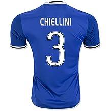 20162017Juventus FC Camiseta de 3Giorgio jugador- Away fútbol fútbol Jersey de flores en azul, European Soccer League, hombre, color azul, tamaño extra-large
