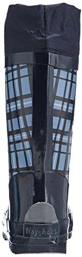 Playshoes Karo aus Naturkautschuk mit Reflektor 188651 Jungen Gummistiefel Blau (blau 7)