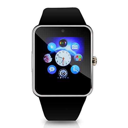 Hiwatch Bluetooth Smart Watch Uhr Handyuhr Armbanduhr mit 8GB Mikro-SD-Karte Schwarz