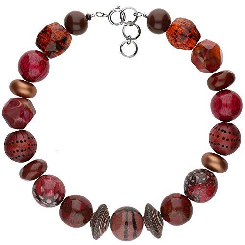langani Halskette Zamek Damen-Kette schwarzen Perle Handmade Since 1952