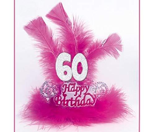 Tiara Marabú plumas 60 años - Accesorios fiesta