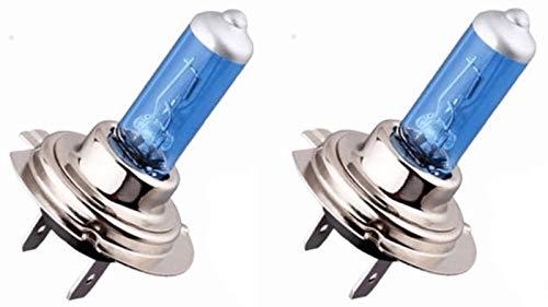 ZENXEAY H7 Xenon Optik Auto Lampe, 55W 12V Super White Vision Halogen, 2 Stück, passgenau für diverse Pkw