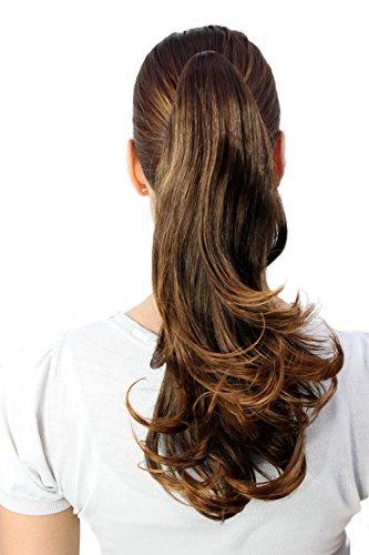 WIG ME UP ® - T400-2T30 Haarteil glatt braun mittellang
