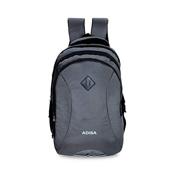 ADISA BP023 Grey Casual 32 litres Laptop Backpack with rain Cover