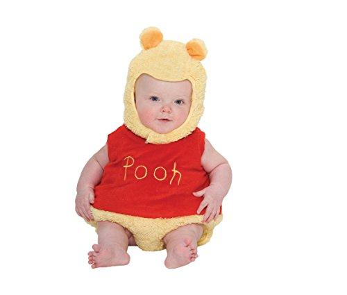 Disney Baby DCWIN-TA-012 - Kostüm - Winnie Puuh - Fleece Spieler mit Kapuze, gelb