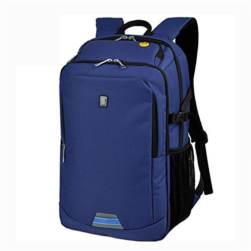 Laptop zaino affari Borsa a tracolla studente Borsa da scuola viaggio Grande capacità zaino Blue