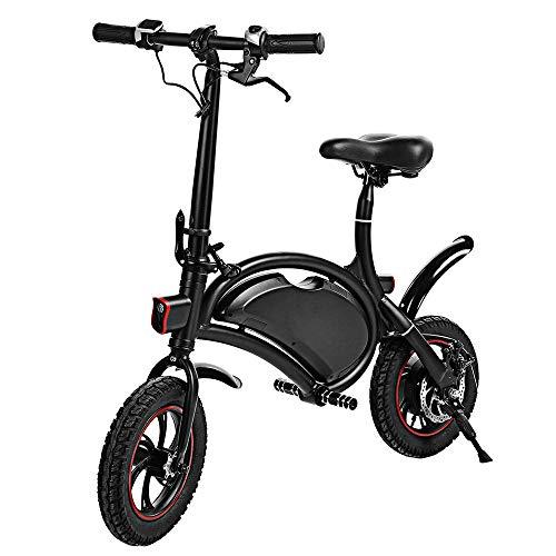 KY&cL E-Bike, 350W 36V Plegable Bicicleta eléctrica Scooter con 12 Millas de Rango, Moto motorizada Marco Plegable, Ajuste de Velocidad de aplicación