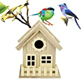 Vogel-NisthausCLOOM Nistkasten, Nisthöhle, Vogelhaus, Kleinsingvögel, Ganzjahresnutzung, Landhaus DIY Vogelhäuser Nisthaus Vogelkiste Kreative DIY Holz Outdoor Vogelhaus Garten Deko (Khaki)