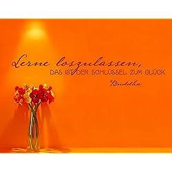 Ursula Lanzinger Wand Aufkleber No. UL663Learn to Let Go, Farbe: Braun; Maße: 90x 439cm
