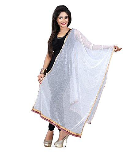 Dupatta in White from Zoya Collection _ZC15__Womens Net Dupatta _Standard Size …|...