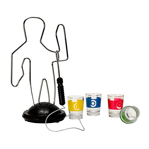 trendaffe Der heiße Draht Trinkspiel mit 4 Gläsern - Heißer Draht Saufspiel Drinking Game