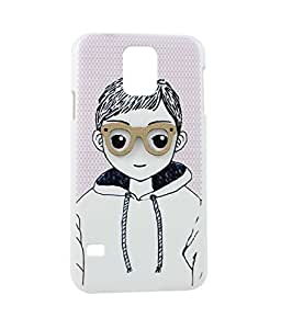 Exclusive Hard Back Case Cover For Samsung Galaxy S5 / S 5 - Boy With Specs