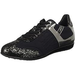 Bikkembergs Damen R-Evolution 329 Low Shoe W Lycra/S.Leather Pumps, Nero (Black/Silver), 37 EU