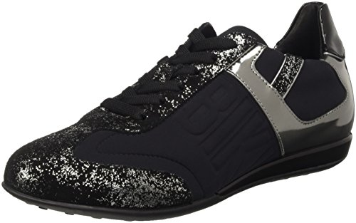 Bikkembergs R-Evolution 329 Shoe W Lycra/S.Leather, Scarpe Low-Top Donna Nero (Black/Silver)