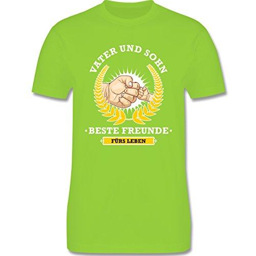 Vatertag - Vater und Sohn - beste Freunde fürs Leben - Herren Premium T-Shirt Hellgrün