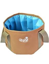 Sac d'eau extérieure pliable Lavabo Lavabo Footbath évier pour le camping - khak
