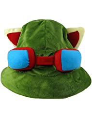 cosplay ? League of Legends – Teemo – Vert – Polar Fleece – Chapeau/Casquette -