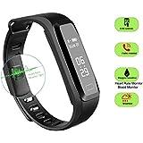 Dax-Hub IP65 Bluetooth V4.0 I5 Smart Watch Inteligente Con Pantalla Cámara Táctil Para Android IOS Iphone Samsung Galaxy HTC Sony Calculadora, Monitoreo del sueño, Marcador (Rosa Claro)