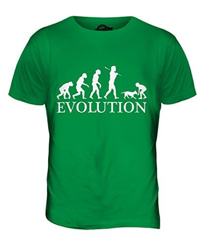 CandyMix Ragazza Con Il Cane Evoluzione Umana T-Shirt da Uomo Maglietta Verde