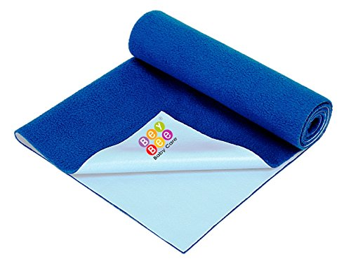 Bey Bee - Quick Dry Baby Bed Protector Waterproof Sheet Reusable Underpads Crib Sheet Cot Mat Bassinet Bedding {Small} {70Cm X 50Cm} (Bey Bee - Royal Blue)
