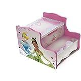 Pink Princesa de Disney Kids y taburete de madera sala de juegos dormitorio muebles de almacenamiento