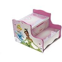 Disney Prinzessinnen-Holz-Tritthocker, für Spielzimmer/Schlafzimmer, mit Aufbewahrungsfach, rosa preisvergleich bei kinderzimmerdekopreise.eu