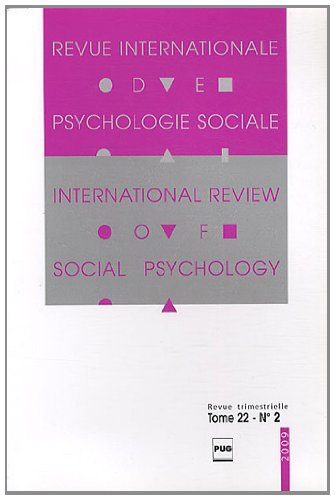 Revue Internationale de Psychologie Sociale, N° 22-2, 2009 :