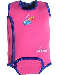 Swimbest Traje de baño para bebé, sin mangas, neopreno, mantiene a los bebés calientes en el agua, niñas y niños de 0–6, 6–12y 12–24meses, ahora disponible, pink/marineblau, 0-6 meses