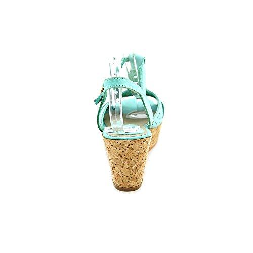 Matisse Sweet Cuir Sandales Compensés Turquoise
