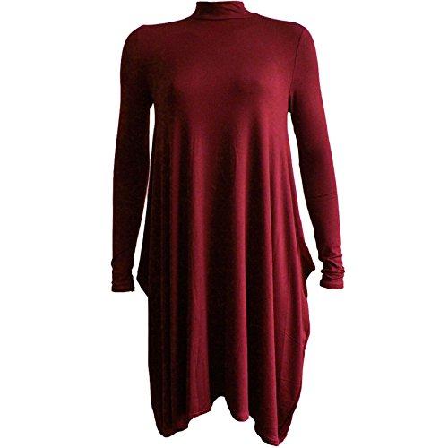 Generic - Robe - Robe de swing - Femme Multicolore Bigarré Bordeaux