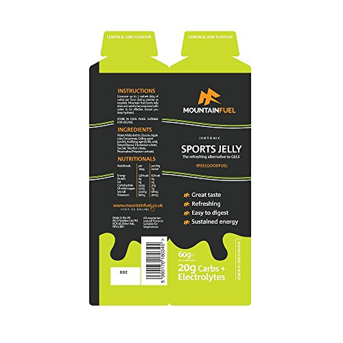 413M%2BceW14L. SS500  - Mountain Fuel Lemon & Lime Sport Jelly with Electrolytes (6 Pack)