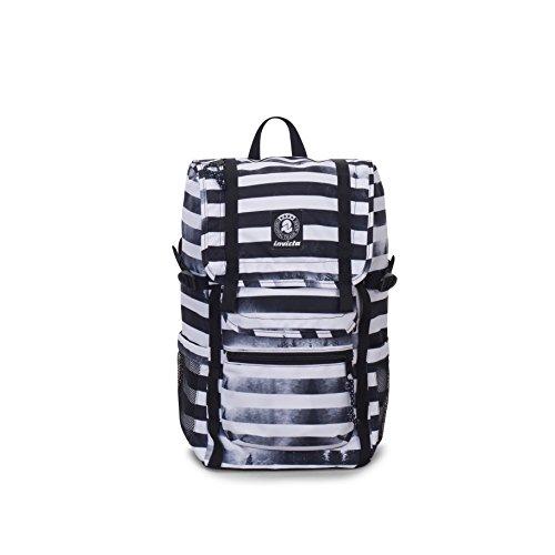 ZAINO INVICTA - TRIKO - Bianco Nero - tasca porta pc padded - 27 LT -