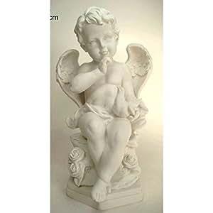 Grande statue ange avec colombe