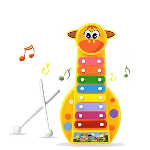 AimdonR Kinder Kind Baby Musikinstrument Cartoon Giraffe 8-Note Spielzeug Bildungsentwicklung Instrumente