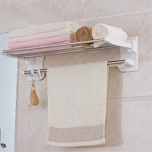 XIAOYUTOU Sonnenbrillen 1 stücke Bad-Accessoires Wand Saugnapf Single Layer Bad Handtuchhalter Mit Und Haken Kunststoff Handtuchhalter, Weiß