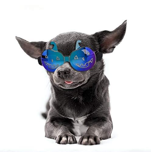Kostüm Französisch Maskerade - Yonfan Hundekostüm Lustige Halloween Katzen Kürbiskostüm Sonnenbrille für Party Maskerade Halloween Fantastische Kostüm Hundebrille UV Schutzbrille für Kleine und Mittlere Größe Hunde, Welpen, Kitten