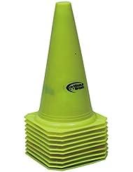 World Sport - Juego de conos, 30,4 cm, 10 unidades Amarillo amarillo