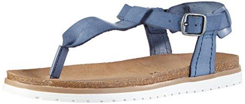 ESPRIT Moraira Sandal, Damen T-Spangen Sandalen, Blau (415 ink), 38 EU