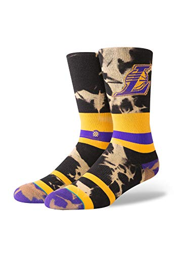 Stance Herrensocken NBA LAKERS ACID WASH Yellow, Größe:M