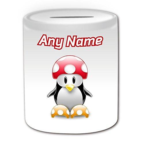 Personalisiertes Geschenk–Kröte Spardose (Pinguin Video Spiel Charakter Kostüm -