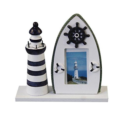Homyl Maritime Leuchtturm Fotorahmen Fotohalter Bilderrahmen Rahmen Tisch Deko Holz - Ruder, 19x6x18.5cm