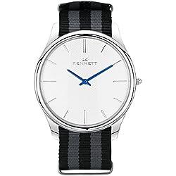 White/Black/Grey Kensington Watch by Kennett