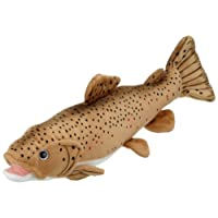 "Blickfanger & Glitter 14069"" Blickfanger and Glitter Sea Life Trout Plush Toy, Brown, 43 cm"