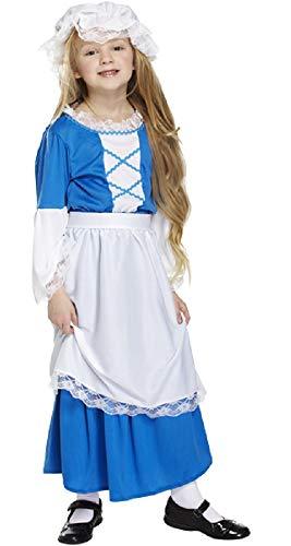 Buch Mädchen Kostüm Tag - Fancy Me Mädchen Kinder blau Poor Tudor Viktorianisch historisch Buch Tag Woche Verkleidung Kleid Kostüm Outfit - Blau, 10-12 Years