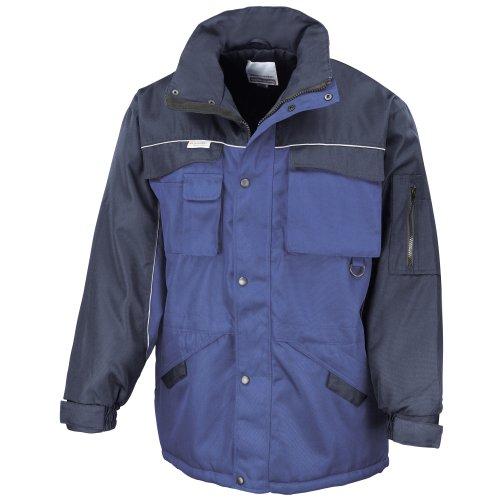 Result - Manteau de travail robuste hydrofuge coupe-vent - Homme Bleu royal/Bleu marine